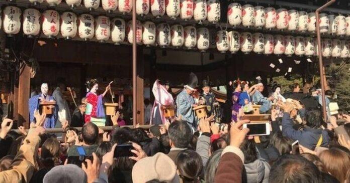 京都八坂神社 節分祭